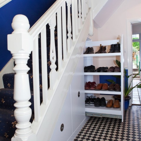 Under stairs storage, Full use of space