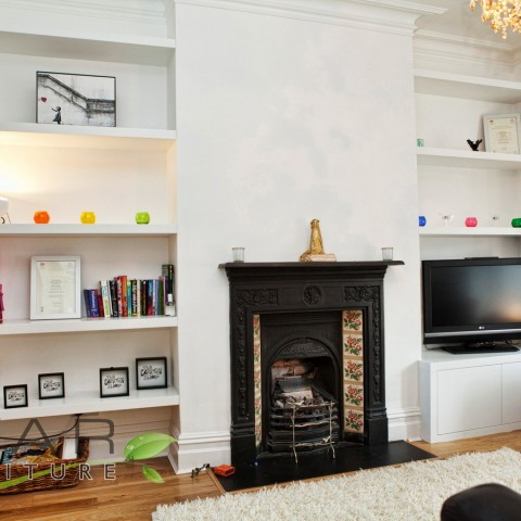 Alcove Shelves, Fitted Alcove Cabinets, London