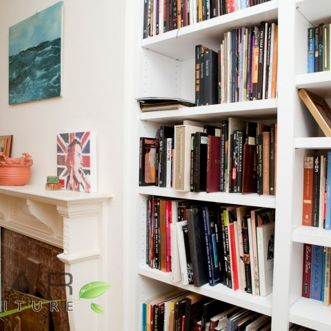 Made To Measure Floating Shelves with Books, Side view