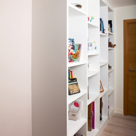 Alcove Bookcases In London, Side view
