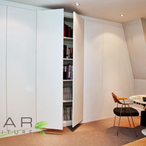 Bespoke Fitted Wardrobes London, Doors opened