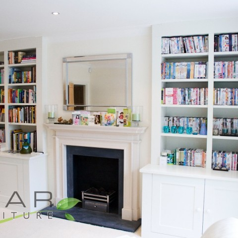 Bespoke Bookshelves London, Room View