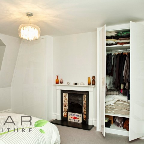 Fitted High Gloss Wardrobes, Room View