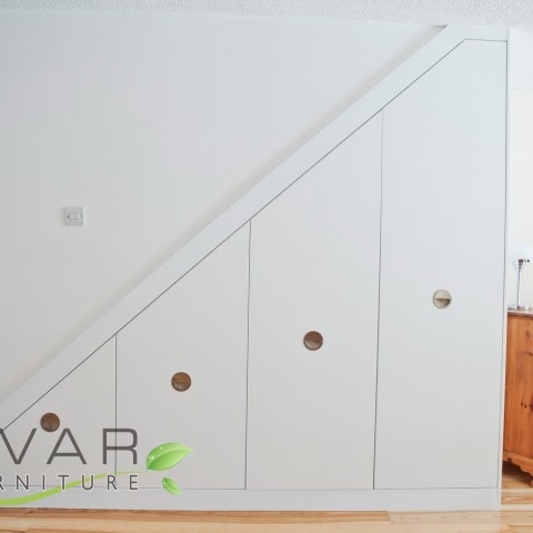 Under Stairs storage door, Space under the stairs