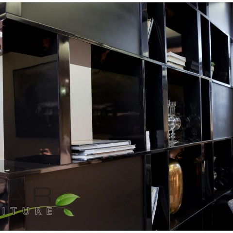 05 custom made bookcases, Black colour