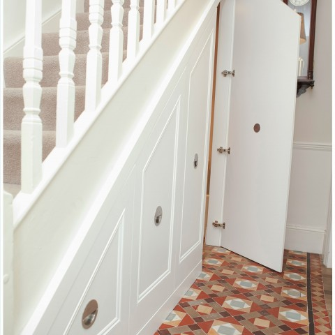 01 under stair cupboard doors. Traditional Style
