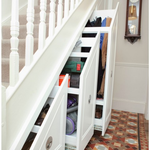 06 3 pull outs for storage under stairs