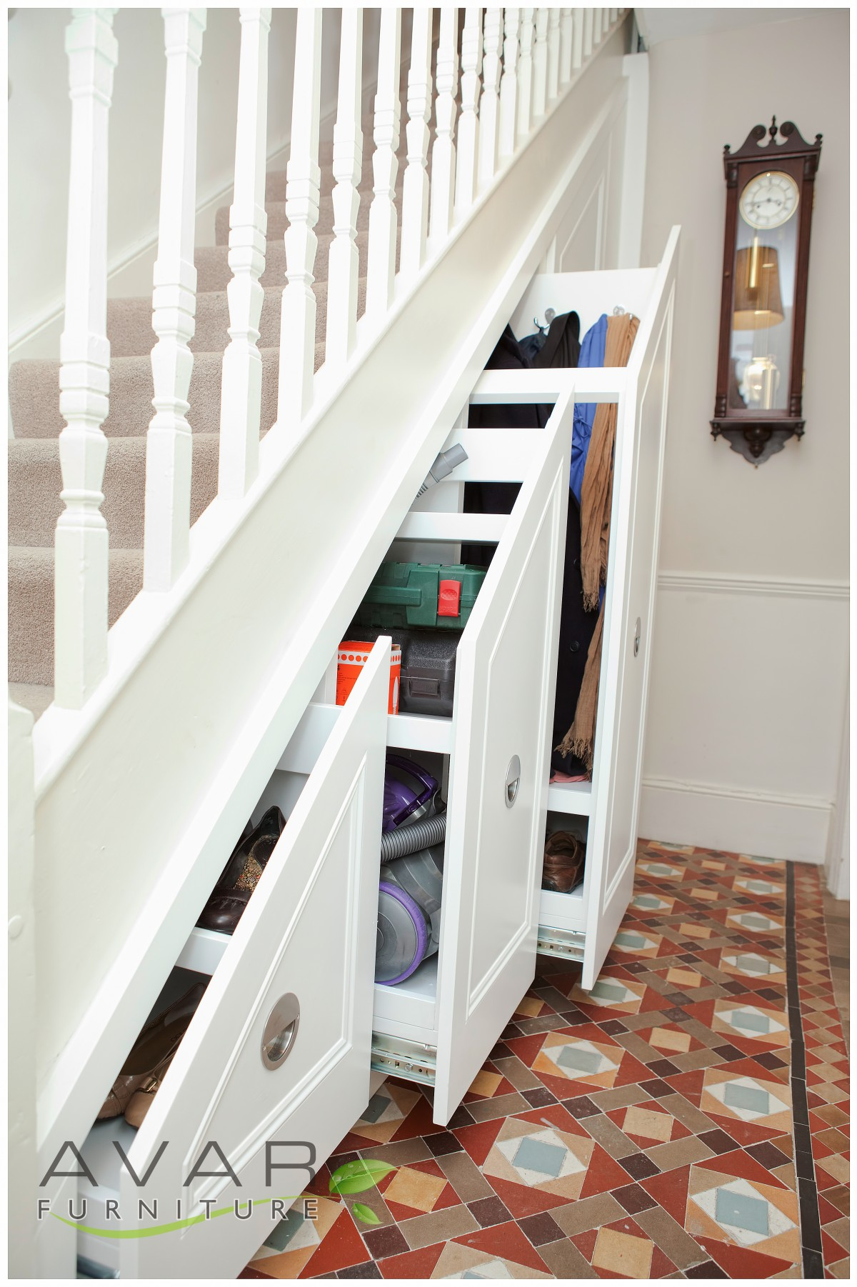Under Stairs Drawers staircase storage. modern storage ideas for small spaces staircase