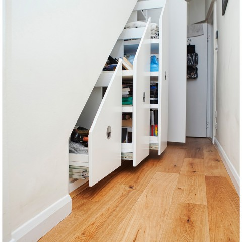storage solution under the stairs