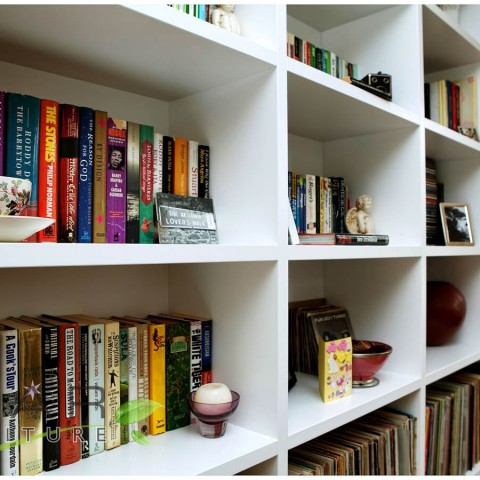 Flush modern shelves design