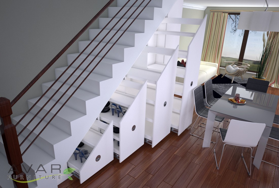 Under Stairs Storage With Wine Rack Made By Avar