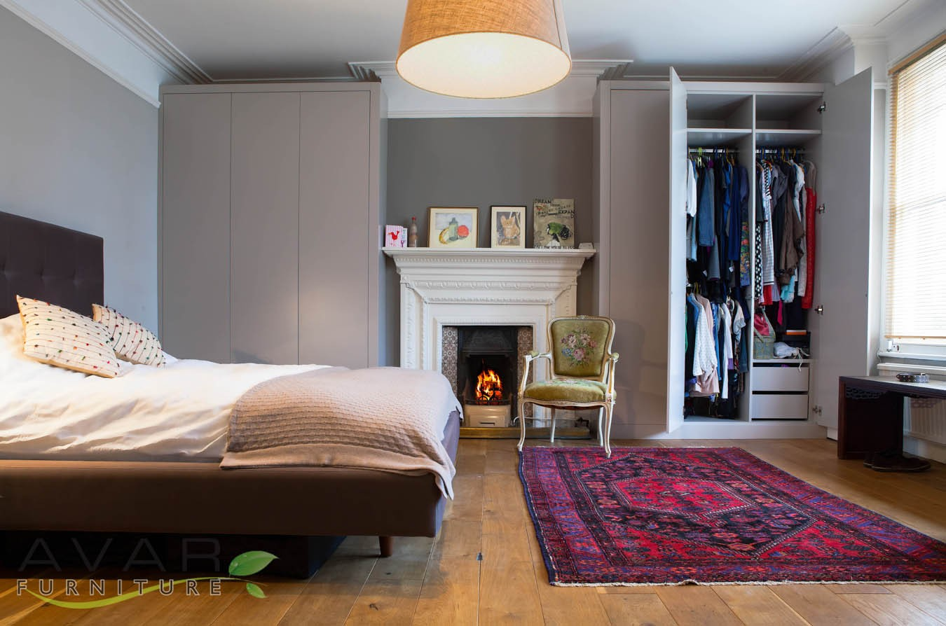 Wardrobe Design Bedroom Modern Grey