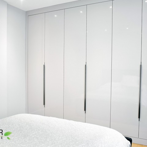 High gloss wardrobe