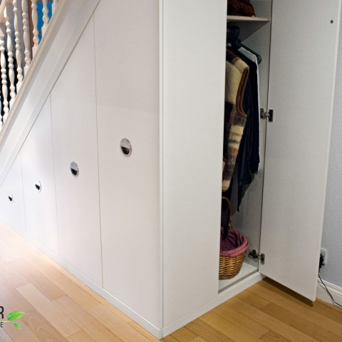 Wardrobe under stairs