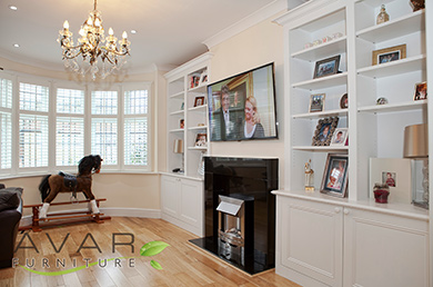 alcove tv base unit